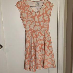Bar III pink and cream dress